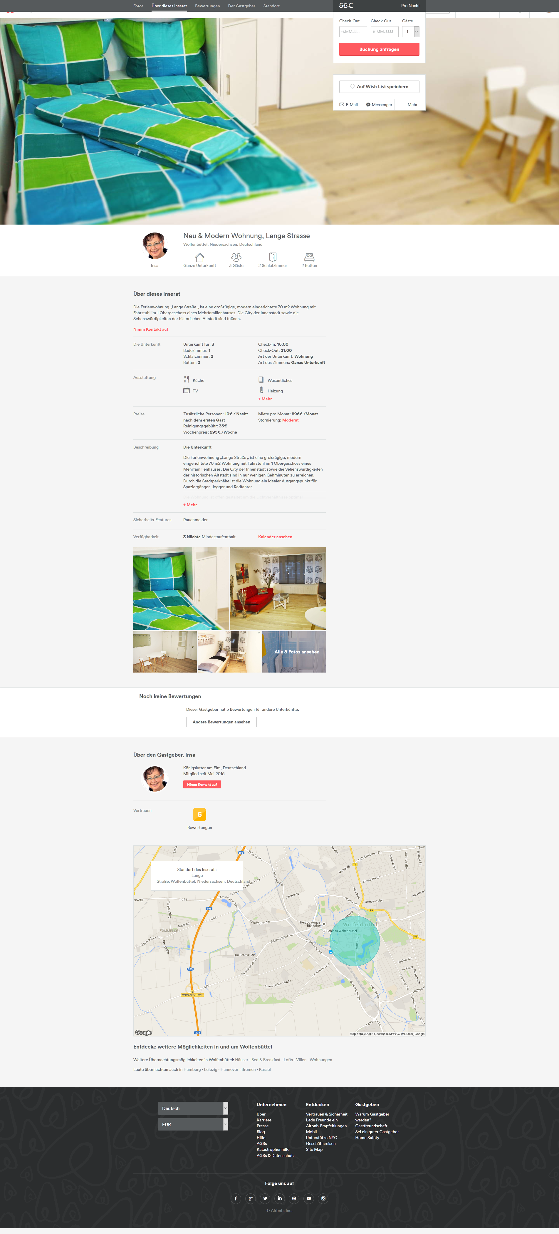 Ferienwohnung - Airbnb- Webdesign