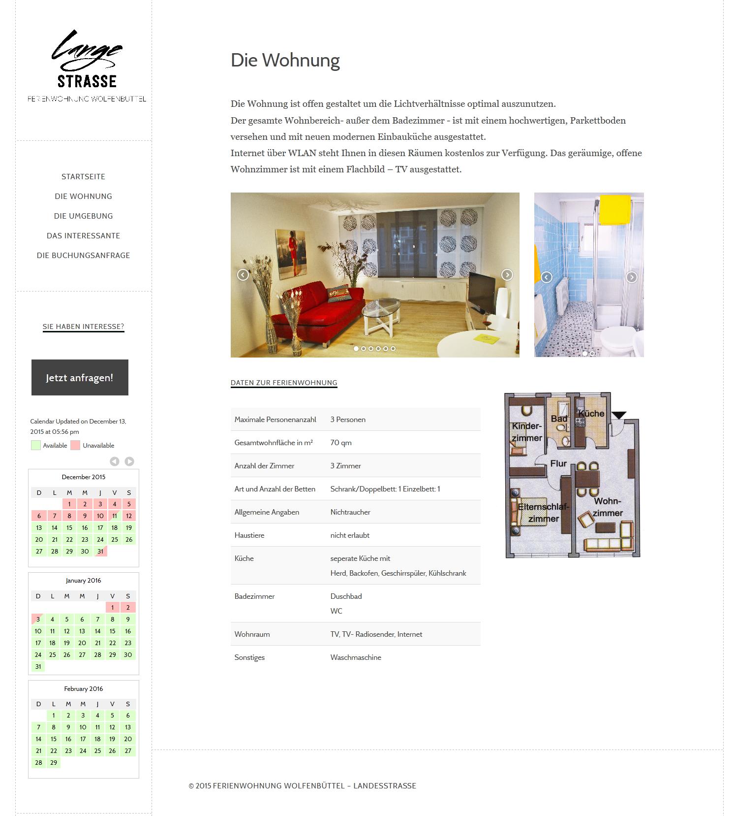 Ferienwohnung - WordPress - Webdesign